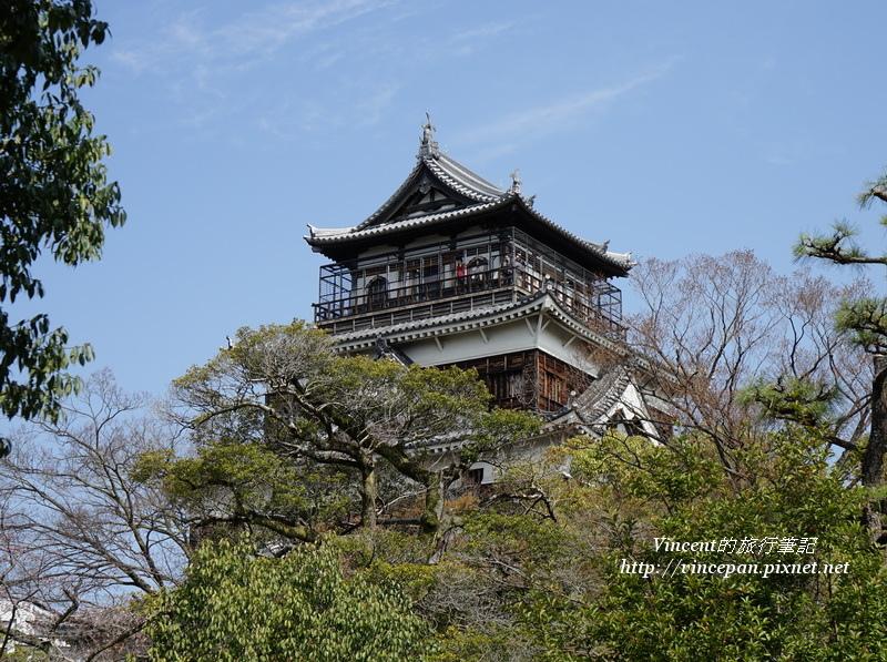 廣島城天守閣頂端