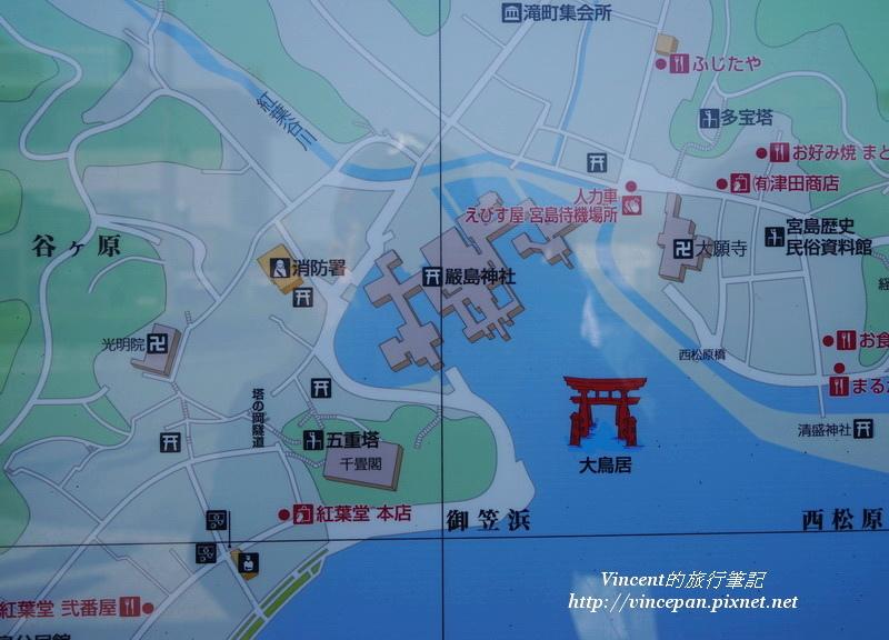 嚴島神社地圖