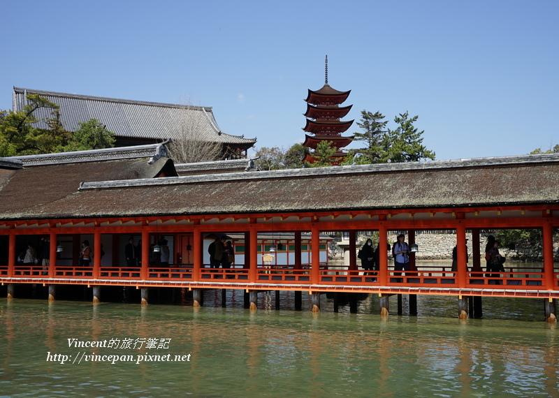 嚴島神社迴廊 五重塔與千曡閣