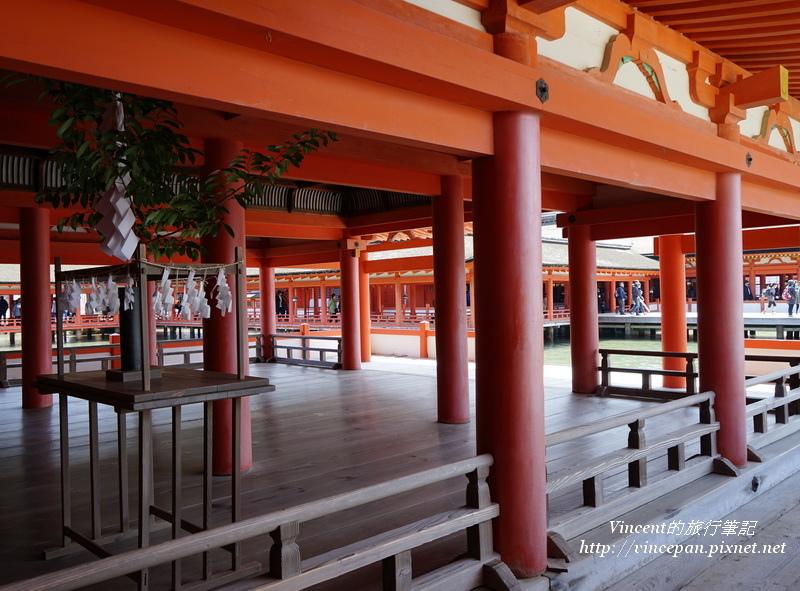 嚴島神社 樑柱
