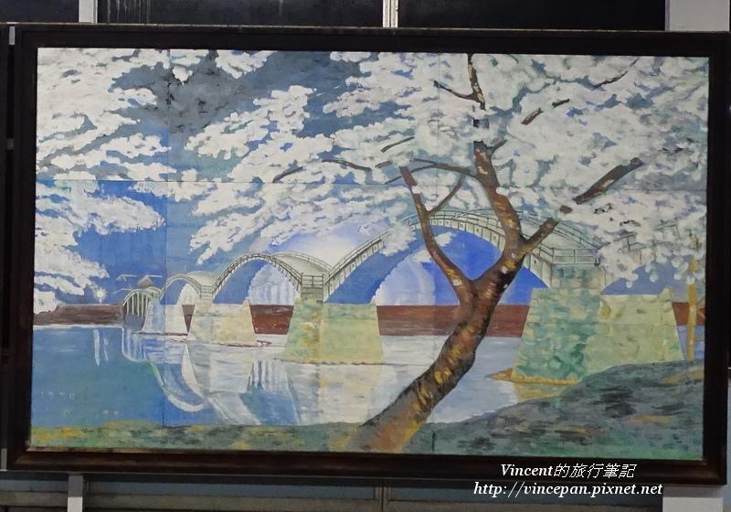 錦帶橋 裝飾櫻花