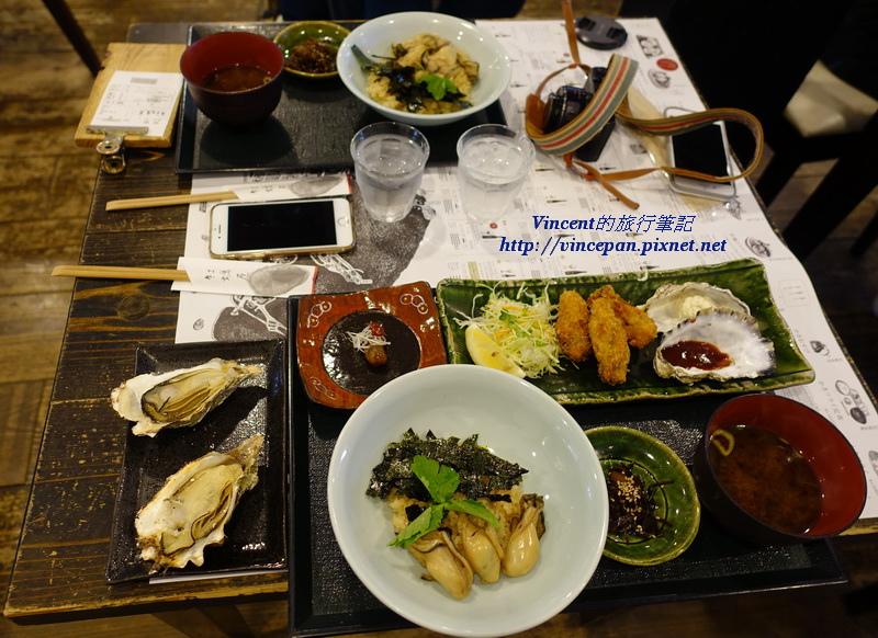 牡蠣屋定食與牡蠣炊飯