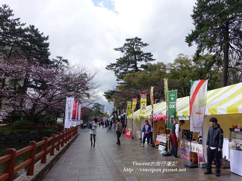 小倉城櫻花祭攤販