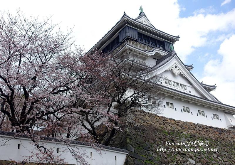 小倉城天守 櫻花