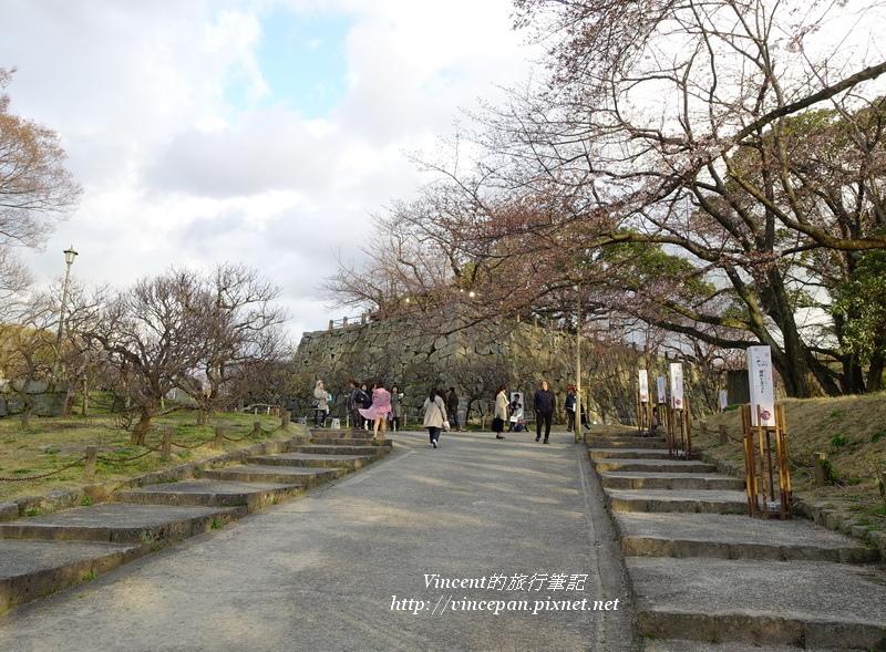 福岡城入口坡道