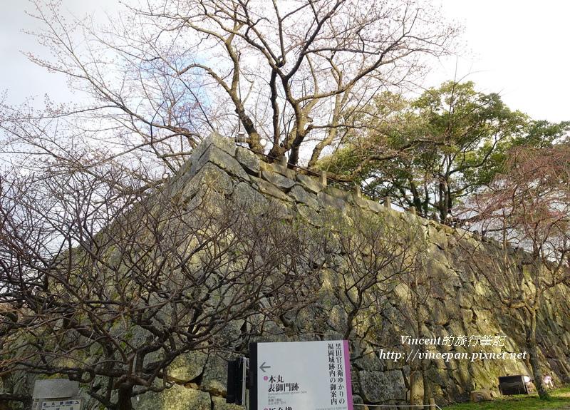 福岡城 城牆