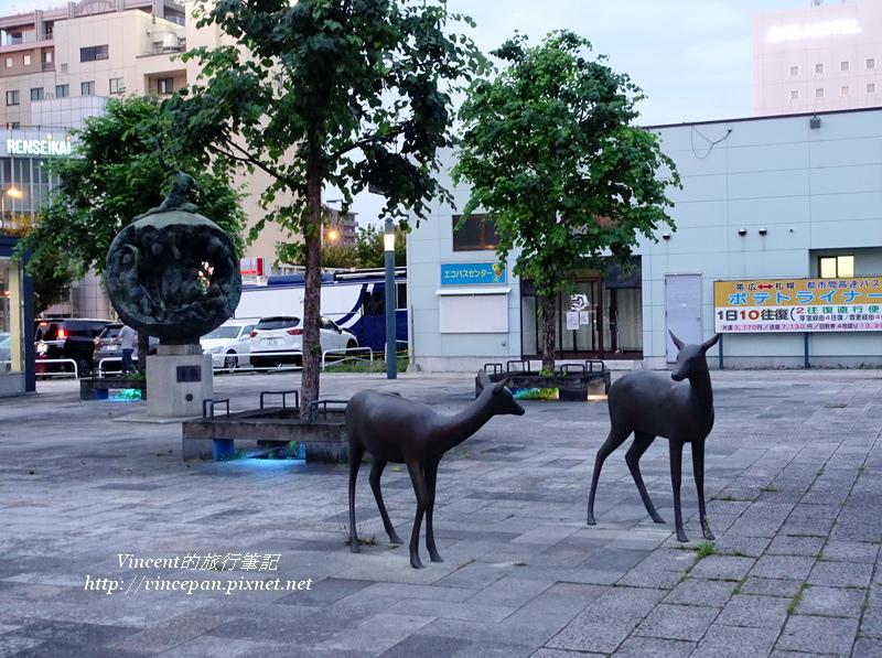 帯廣車站廣場 鹿