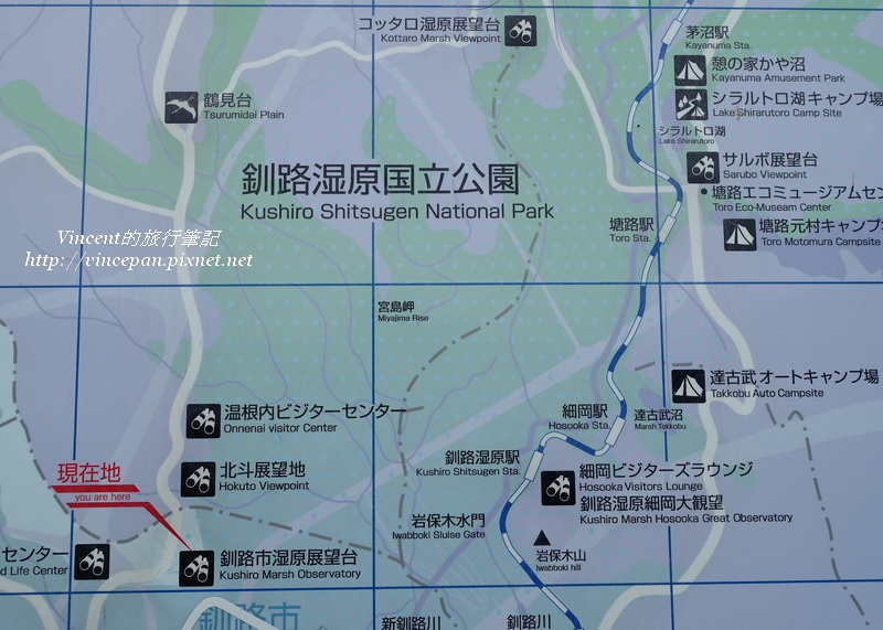 釧路濕原地圖