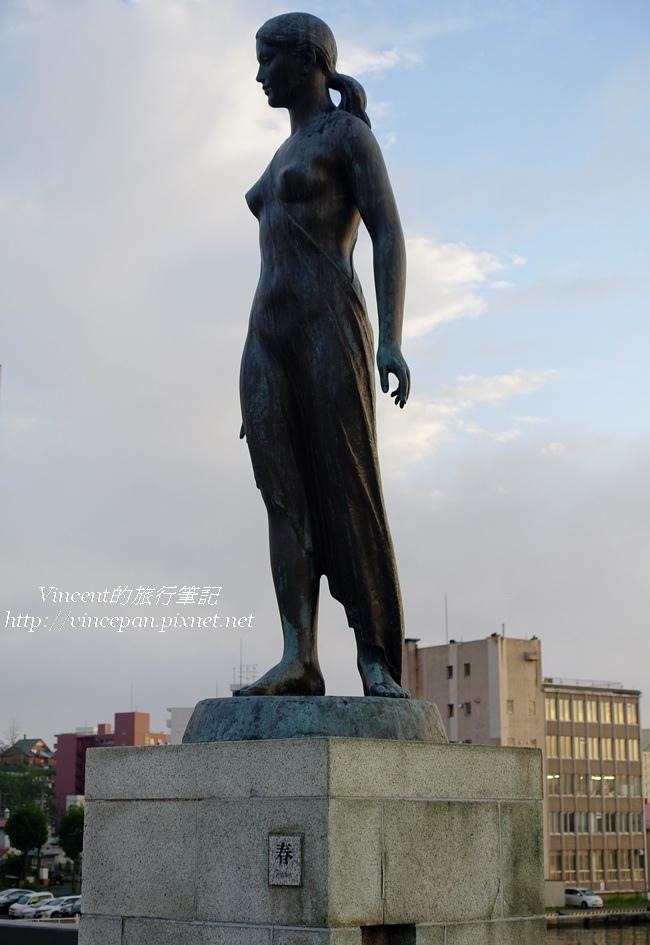 幣舞橋 春雕像