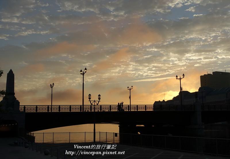 幣舞橋 夕陽1