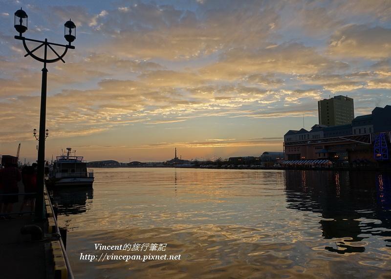 釧路港 火燒雲