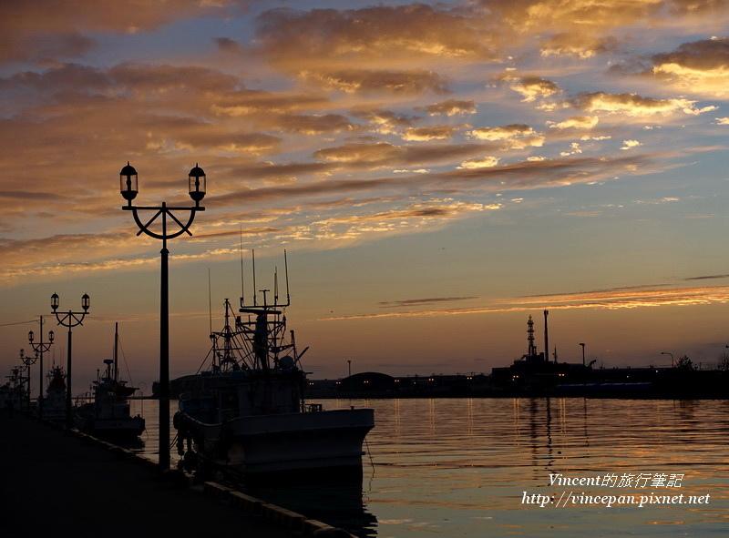 釧路港 火燒雲 船2