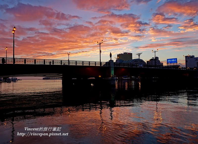 幣舞橋 夕陽2