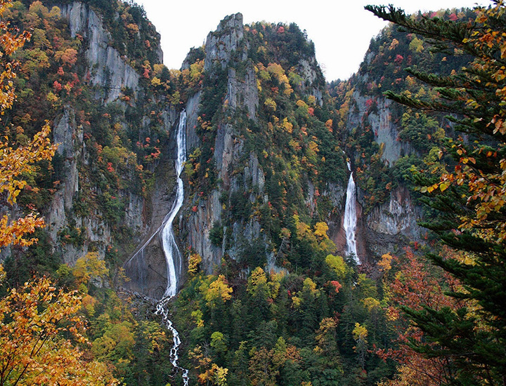 雙瀑布 紅葉