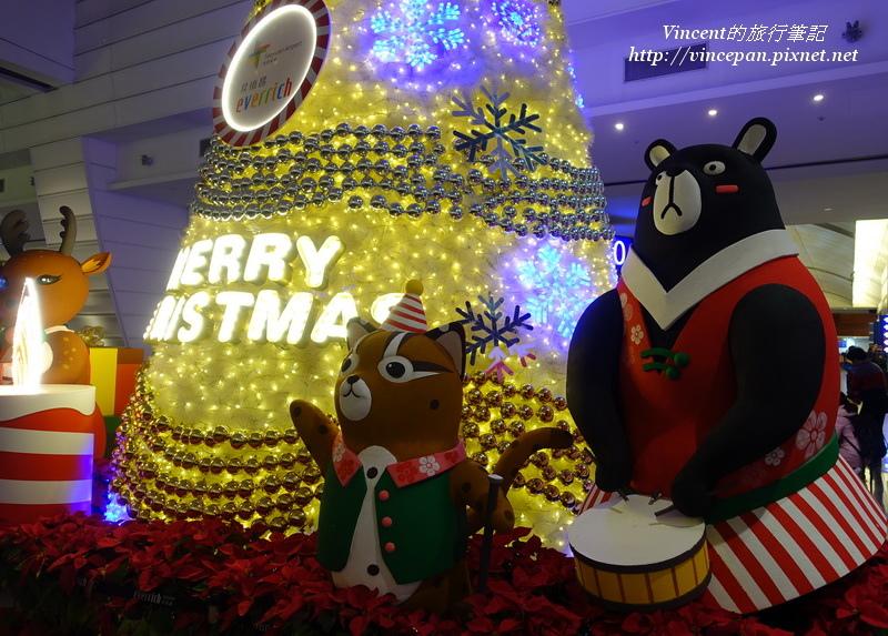 桃園機場耶誕氣氛