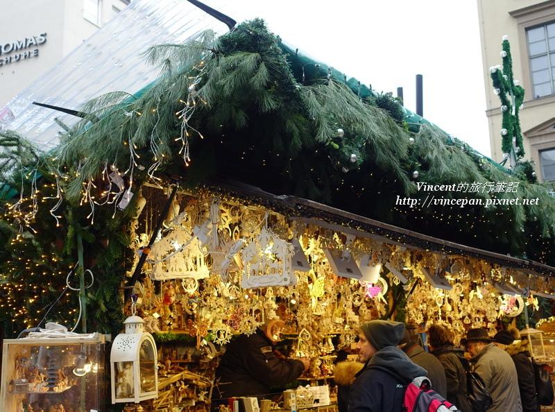 慕尼黑聖誕市集攤販
