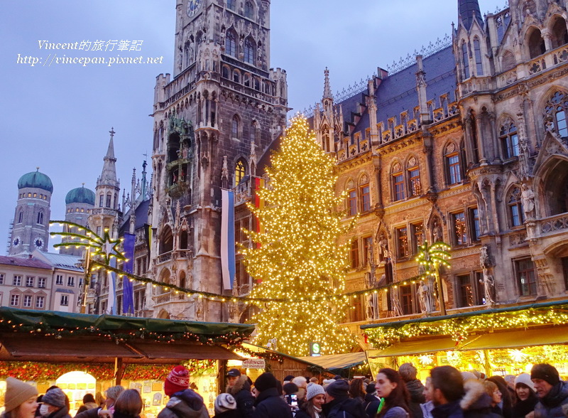 慕尼黑聖誕市集 聖誕樹1