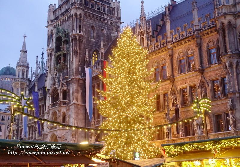 慕尼黑聖誕市集 聖誕樹點燈