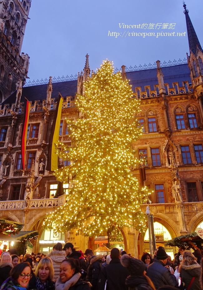 慕尼黑聖誕市集 聖誕樹 直