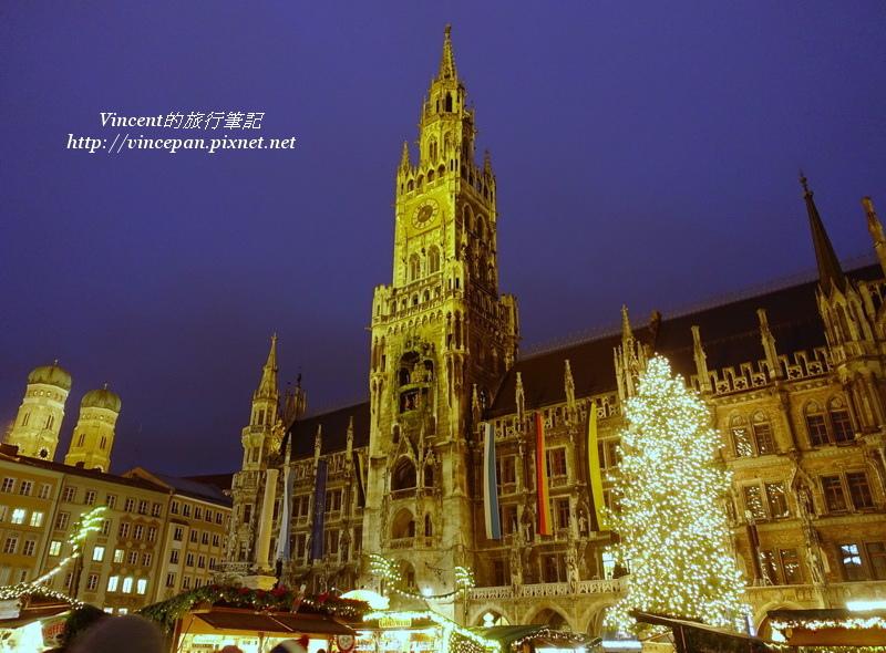 慕尼黑新市政廳與耶誕樹