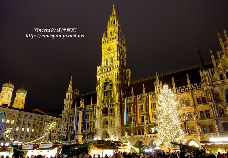 慕尼黑聖誕市集 夜晚