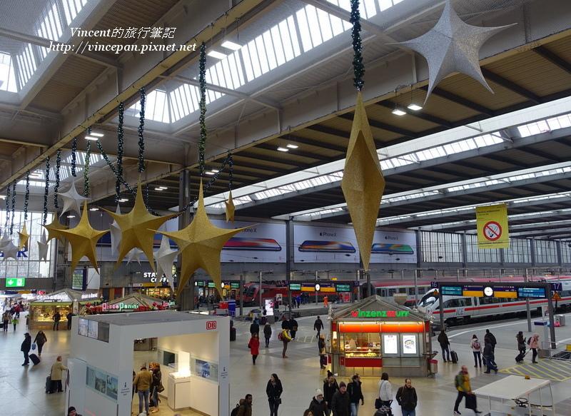 慕尼黑中央車站 聖誕裝飾