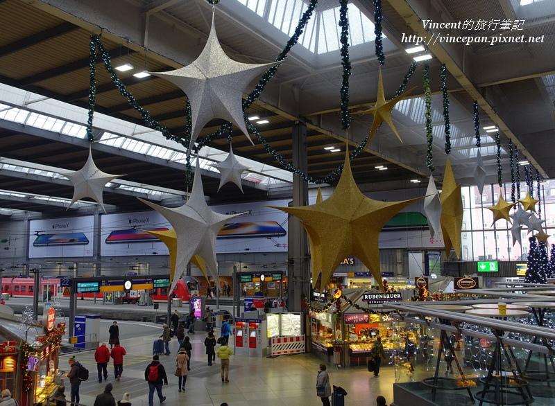 慕尼黑中央車站 聖誕裝飾1