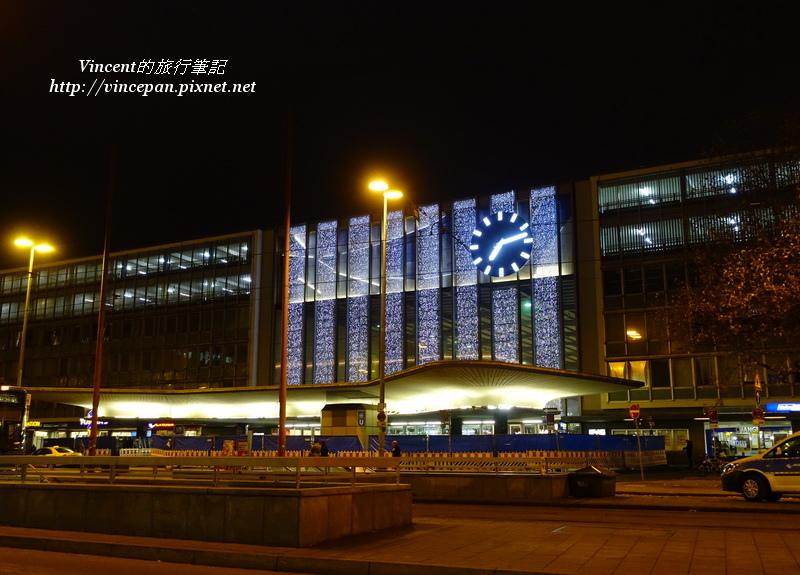 慕尼黑中央車站 正面 夜晚
