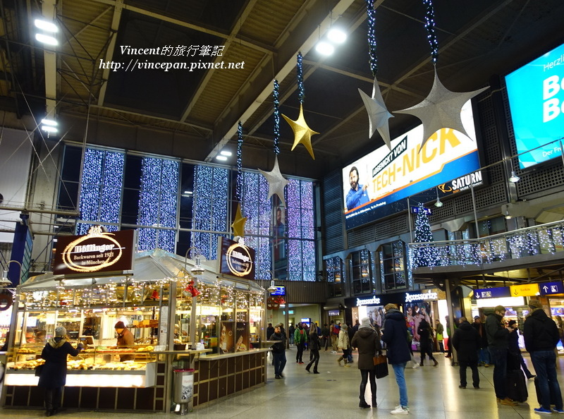 慕尼黑中央車站 月台 晚上
