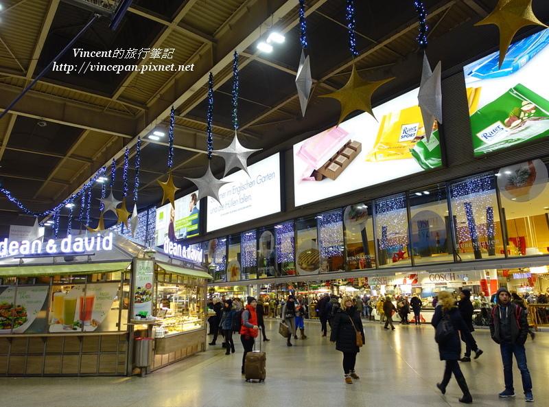慕尼黑中央車站 月台 晚上2