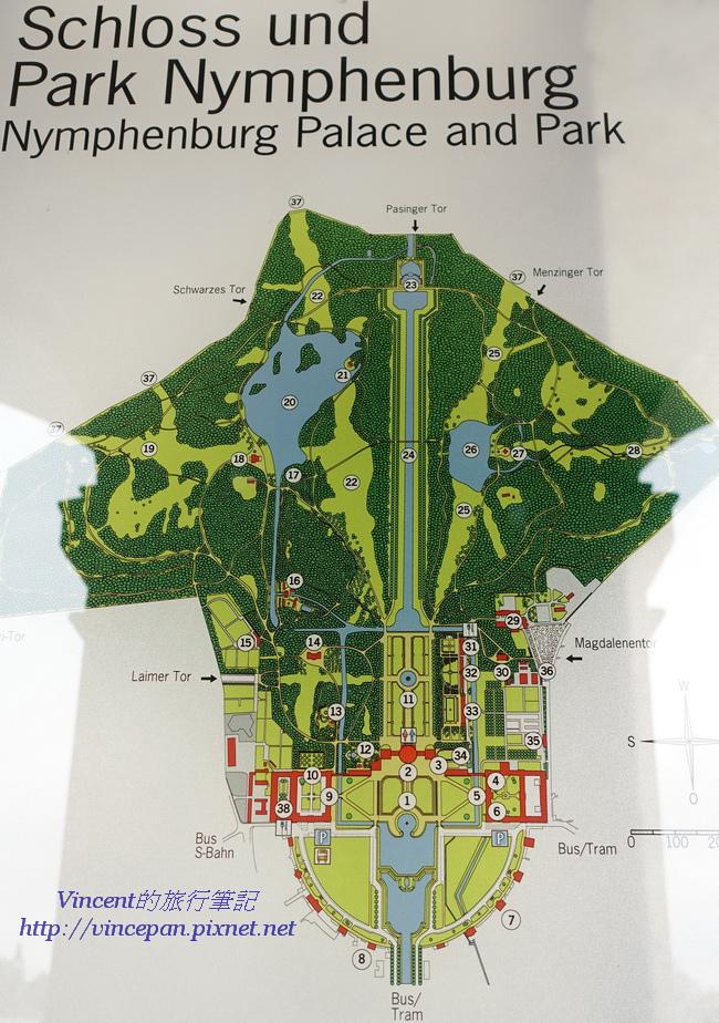 寧芬堡宮地圖