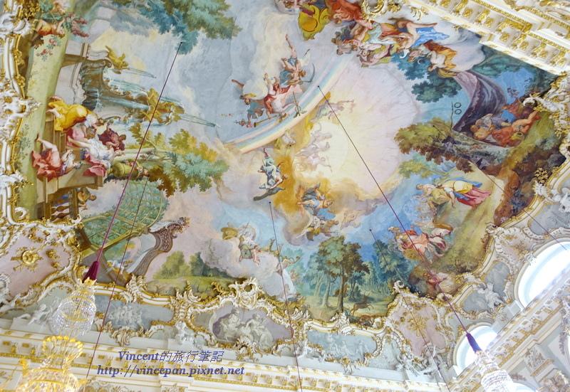 石廳天花板壁畫