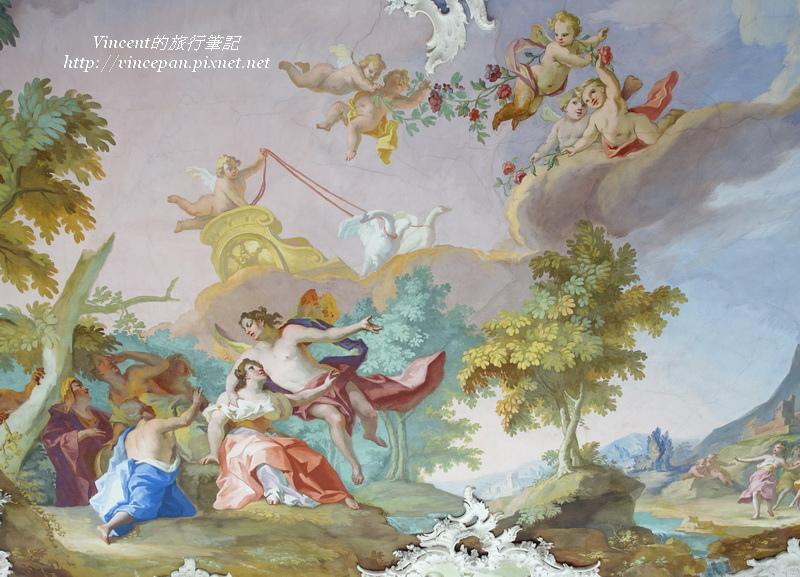 石廳天花板壁畫l