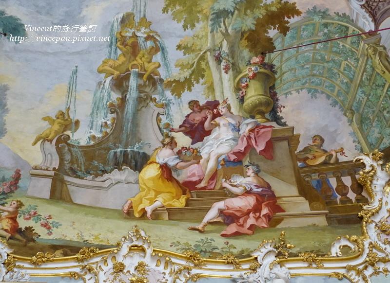 石廳天花板壁畫2