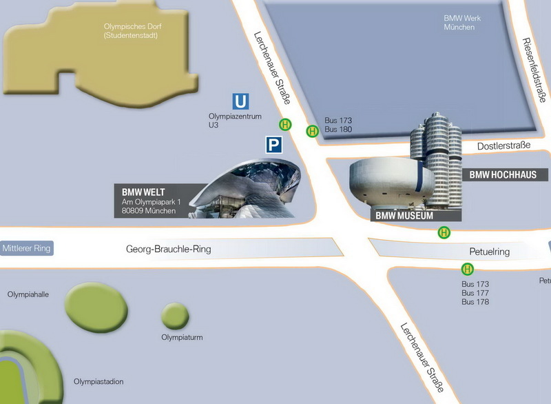 BMW location map