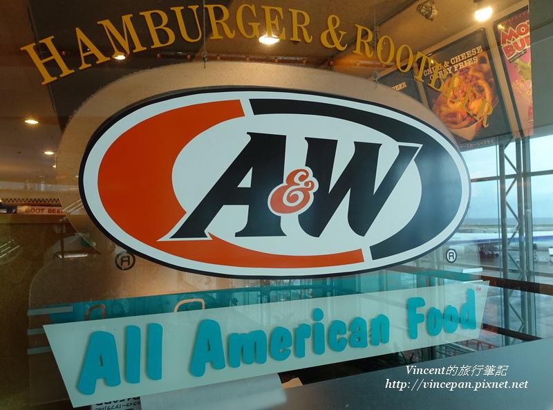 """A&W漢堡""""all American food"""""""