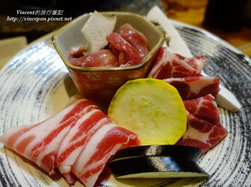 燒肉套餐三種豬肉