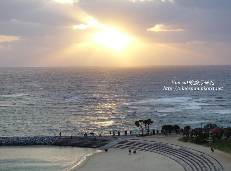 日落沙灘 夕陽2