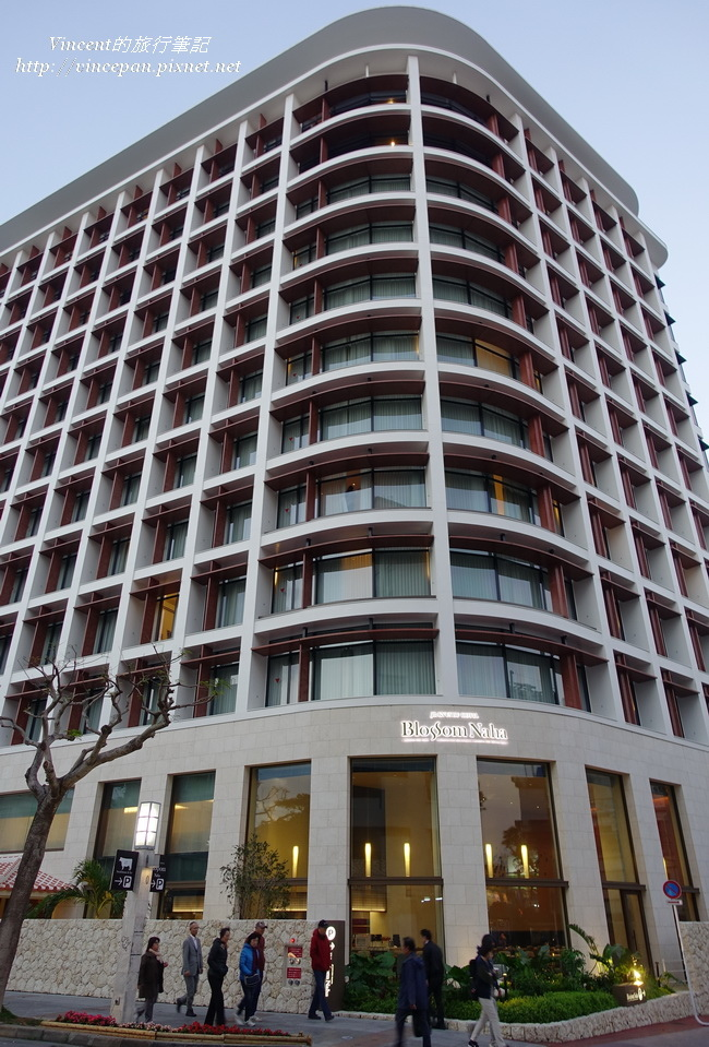 JR九州Blossom那霸酒店 外觀傍晚