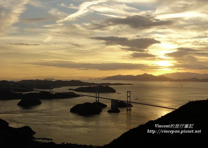 亀老山展望公園 夕陽