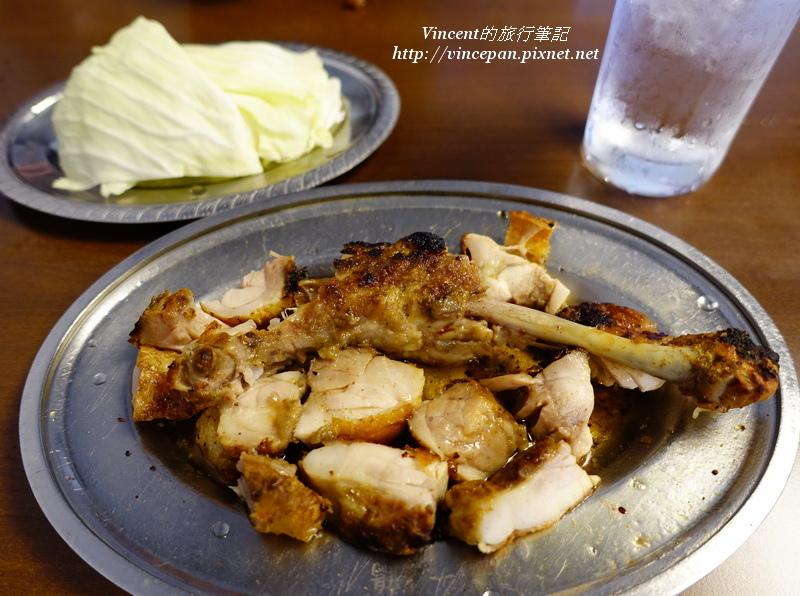 雞腿搭配高麗菜