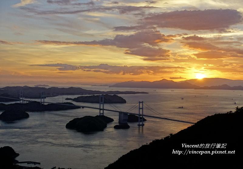 亀老山展望公園 夕陽1