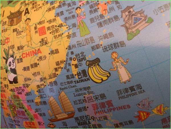 地球儀台灣