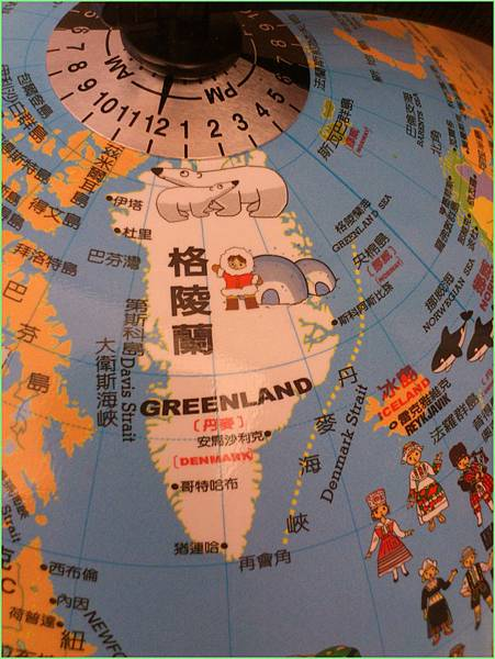 地球儀格陵蘭