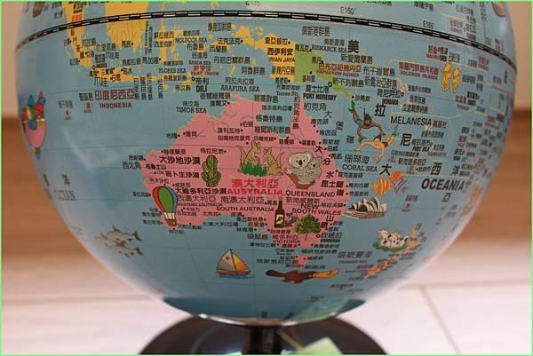 地球儀澳洲
