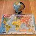 地球儀+地圖