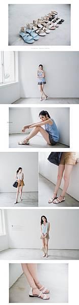 配色涼鞋2