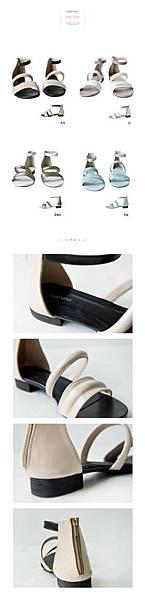 配色涼鞋3