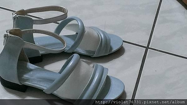 配色涼鞋6