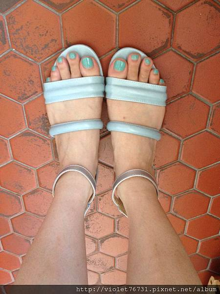 配色涼鞋11
